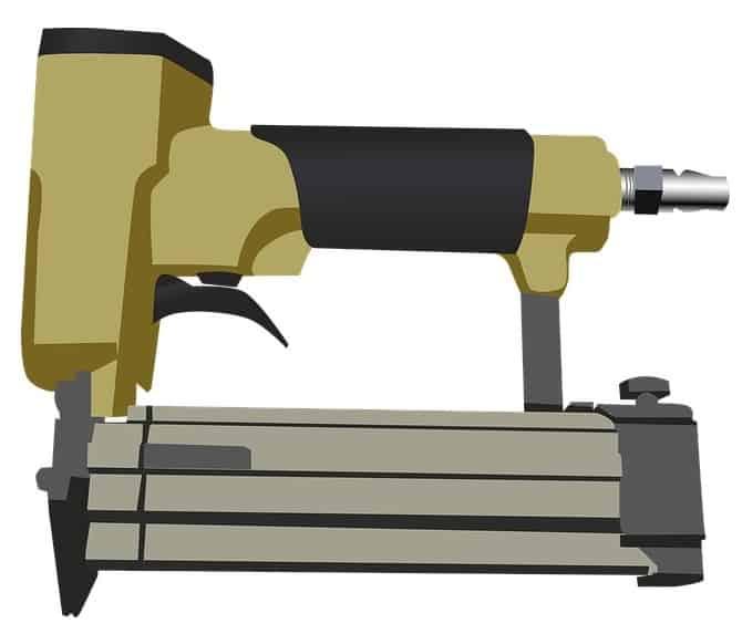 Air compressor powered brad nailer