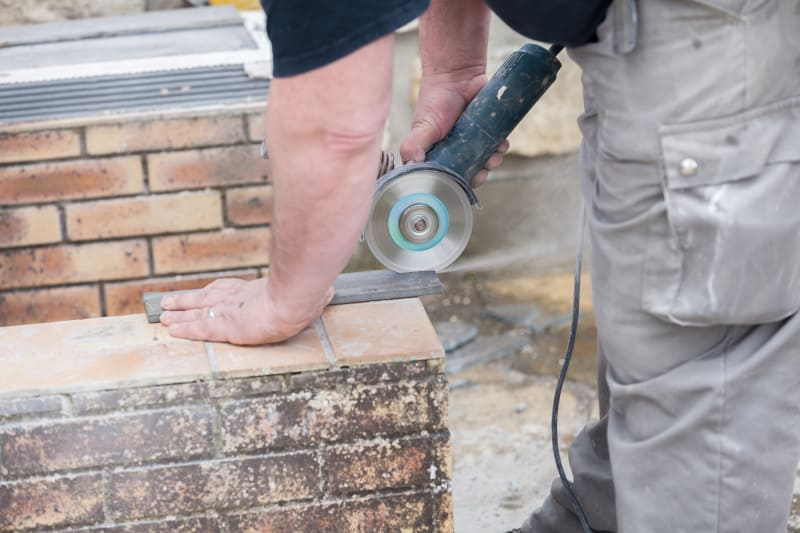 Angle grinders can be used to cut concrete and tiles