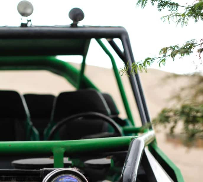 Vehicle with custom roll cage