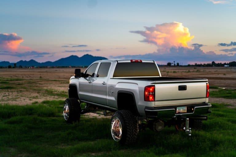 Custom truck in field