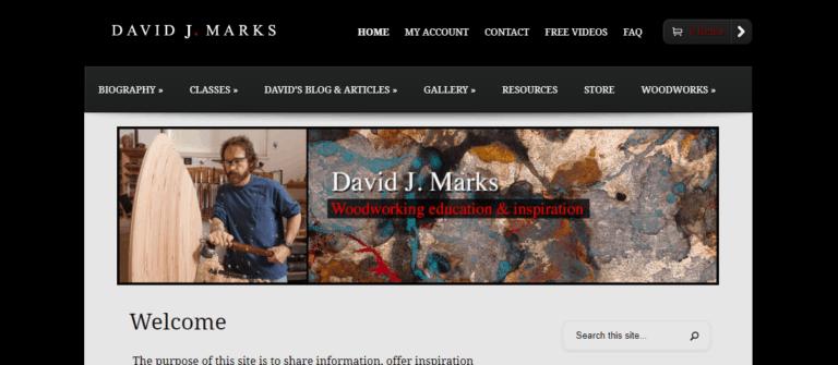 David J Marks DIY Woodworking Website