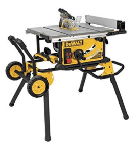 Dewalt 10 Inch Table Saw with Rolling Stand