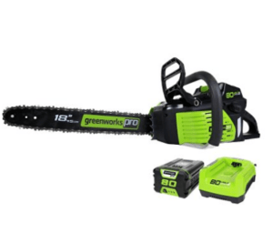 """GreenWorks Pro 80V 18"""" Cordless Saw with Battery and Charger"""