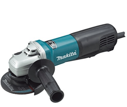 Makita 4.5 inch angle grinder with paddle switch