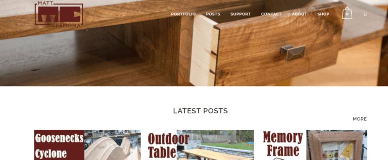 Matt Cremona's Woodworking Website