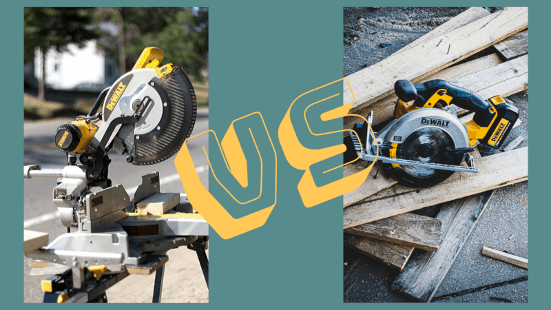 Miter Saw vs Circular Saw - What's the Difference?