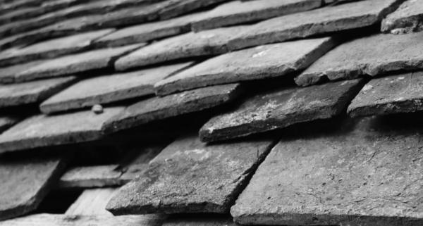 Old regular roof shingles