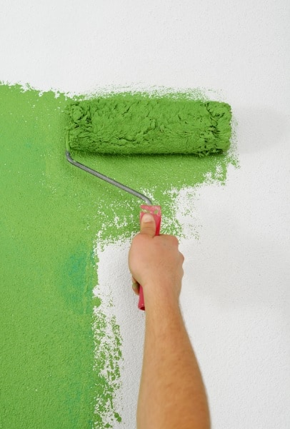 Painting a home interior wall