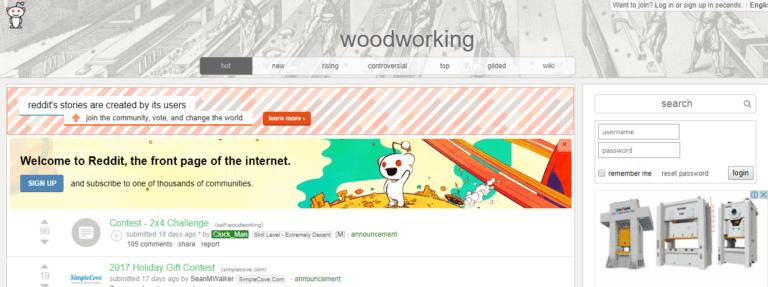 Reddit Woodworking